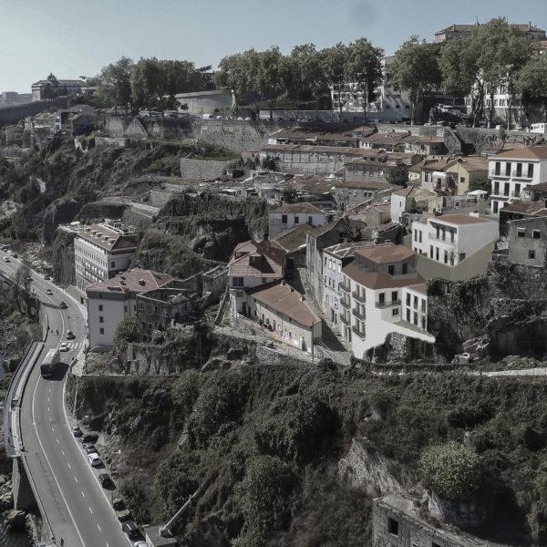 fotomontagem Rio Douro Porto